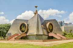 Nyayo zabytek w central park w Nairobia, Kenja zdjęcie royalty free