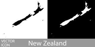 Nyazeeländsk detaljerad översikt stock illustrationer