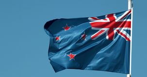 Nyazeeländsk flagga som vinkar i vinden