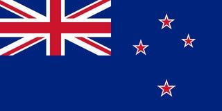 Nyazeeländsk flaggavektorisolat för tryck eller rengöringsduk royaltyfri illustrationer