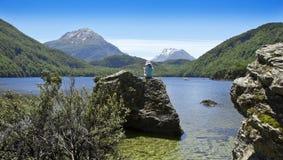 Nyazeeländsk scenisk sjö Arkivfoton