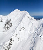 Nyazeeländska snöberg arkivfoton