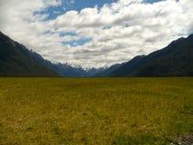 Nyazeeländskt berglandskap Arkivfoto