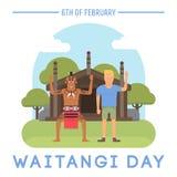 Nyazeeländskt Waitangi dagämne Arkivbilder
