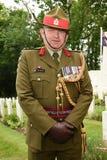 Nyazeeländsk armébrigadgeneral i den bästa likformign Arkivbild