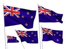 Nyazeeländska vektorflaggor Royaltyfri Bild