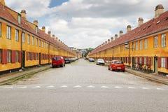 Nyboder - είναι σπίτια χτίζει από το Χριστιανό IV βασιλιάδων στοκ φωτογραφία με δικαίωμα ελεύθερης χρήσης