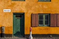 Nyboder, Копенгаген, Дания Стоковые Фото