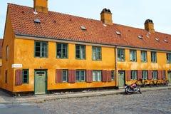 Nyboder, Kopenhagen Royalty-vrije Stock Fotografie