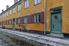 Nyborder区在哥本哈根 免版税图库摄影