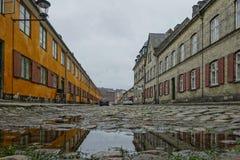 Nyborder区在哥本哈根 免版税库存图片