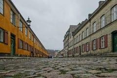 Nyborder区在哥本哈根 库存图片
