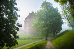 Nyborg Castle. Castle in Nyborg, Denmark. Spring foggy morning Stock Photography