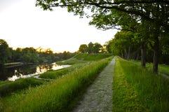 Nyborg Castle Ramparts at Dusk Royalty Free Stock Image