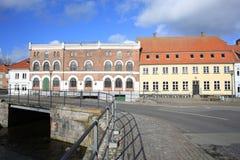 Nyborg historique sur l'île de Fionie, Danemark image libre de droits