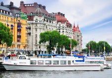 Nybrohamnen, bord de mer à Stockholm, Suède image stock
