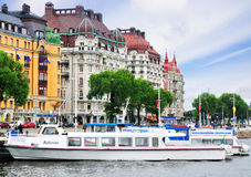 Nybrohamnen, waterfront in Stockholm, Sweden Stock Image