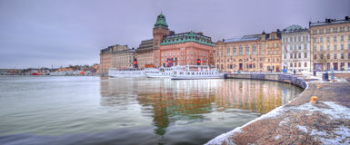 Nybrokajen, Stockholm - Sweden Stock Photos