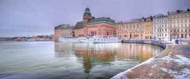 Nybrokajen Sztokholm, Szwecja, - Zdjęcia Stock