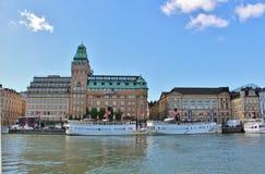Nybroviken在斯德哥尔摩 库存照片