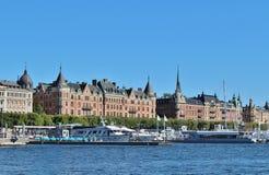 Nybroviken在斯德哥尔摩 免版税图库摄影