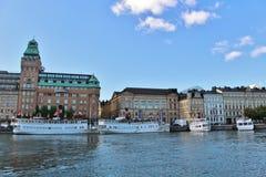 Nybroviken在斯德哥尔摩 库存图片
