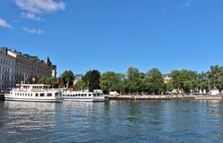Nybroviken在斯德哥尔摩 免版税库存照片