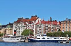 Nybroviken在斯德哥尔摩 免版税库存图片