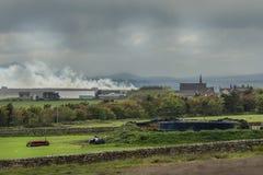 Nybster-Dorf auf Nordseeküste, Schottland Stockfotos