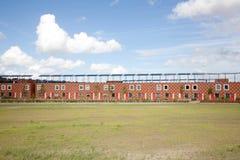 Nybyggda hus i Almere Poort Royaltyfria Bilder