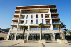 Nybygge av hotellet Arkivfoto