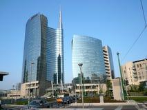 Nybygge i Milan Arkivbilder