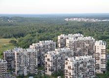 Nybyggen i förort i Vilnius Arkivbild