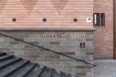Nybygget av det historiska museet i Frankfurt, Tyskland Arkivfoton