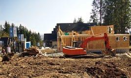 Nybyggnadplats Arkivfoto