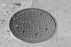 NYC下水道 库存图片