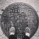 NYC下水道 免版税库存照片