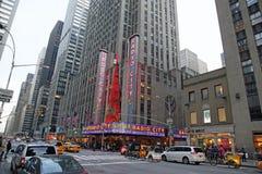 NYC单选城市音乐厅 图库摄影