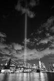 NYC地平线进贡光 免版税图库摄影