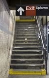 NYC地铁平台步骤 图库摄影