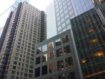 nyc大厦的反射 免版税库存照片