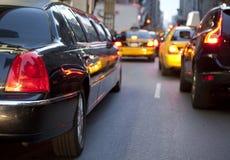 NYC大型高级轿车 库存图片