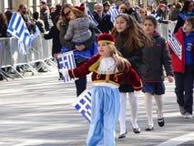 NYC希腊人美国独立日游行2016第4部分33 库存照片
