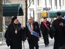 NYC希腊人美国独立日游行2016第6部分37 免版税库存图片