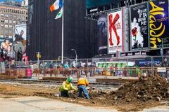 NYC时代广场再设计项目 免版税库存图片