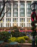 NYC梅西百货公司圣诞节 库存照片