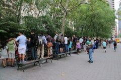 NYC每年身体画图的天 免版税库存照片