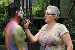 NYC每年身体画图的天 免版税库存图片