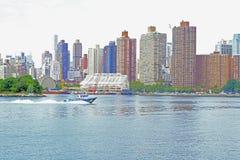 NYC港口巡逻 免版税库存图片