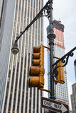 NYC红绿灯 免版税库存图片